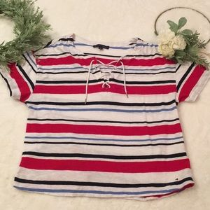 Tommy Hilfiger Women's Short Sleeve Top EUC